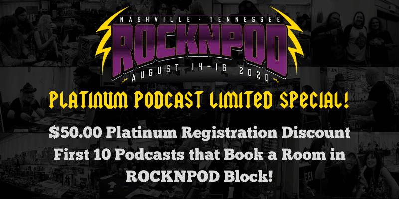 RockNPod Expo Podcaster Platinum
