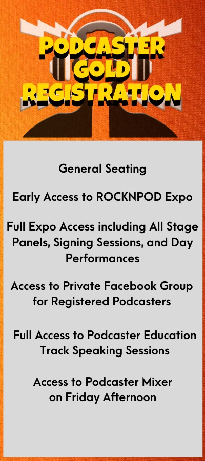 ROCKNPOD EXPO 2021 Podcaster Gold