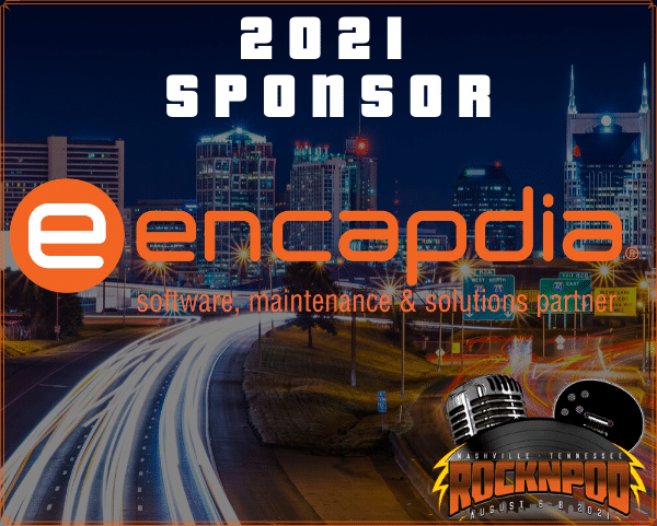 Encapdia, rocknpod, sponsor, technology partner, nashville, convention, conference, 2021