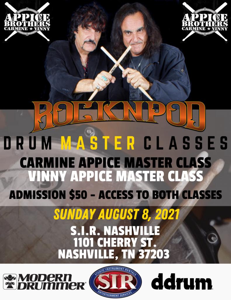 Appice Brothers Master Class ROCKNPOD Expo 2021