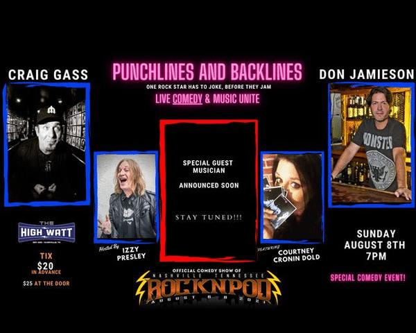 Punchlines And Backlines Don Jamieson Craig Gass Courtney Cronin Dold Izzy Pressley ROCKNPOD Expo 2021