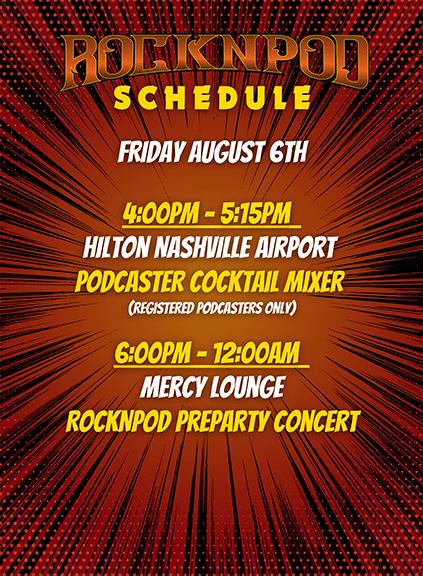 ROCKNPOD Expo Friday Schedule