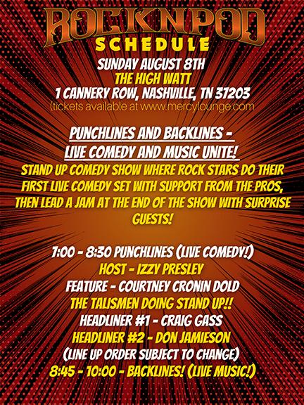 ROCKNPOD Expo Sunday Schedule